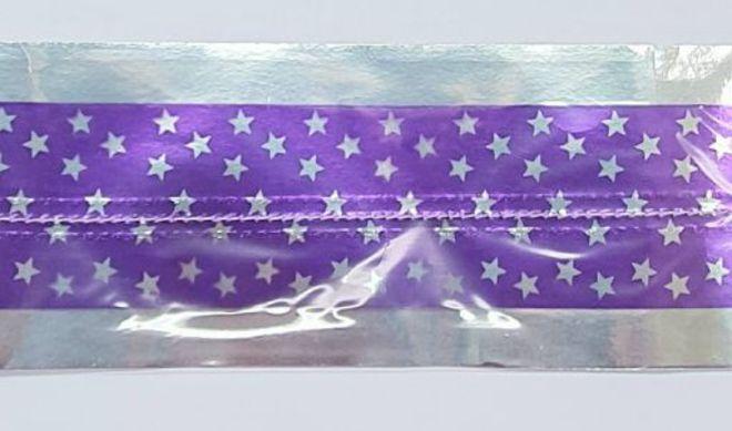 Cake Band Star Purple/Silver 63mm (1m) image 0