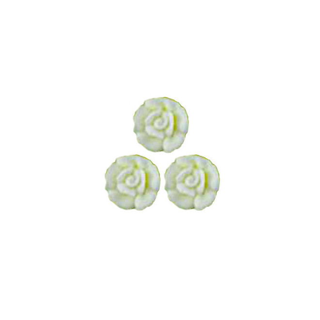 Icing White Roses 10mm, packet of 24 - DELETE WHEN SOLD image 0