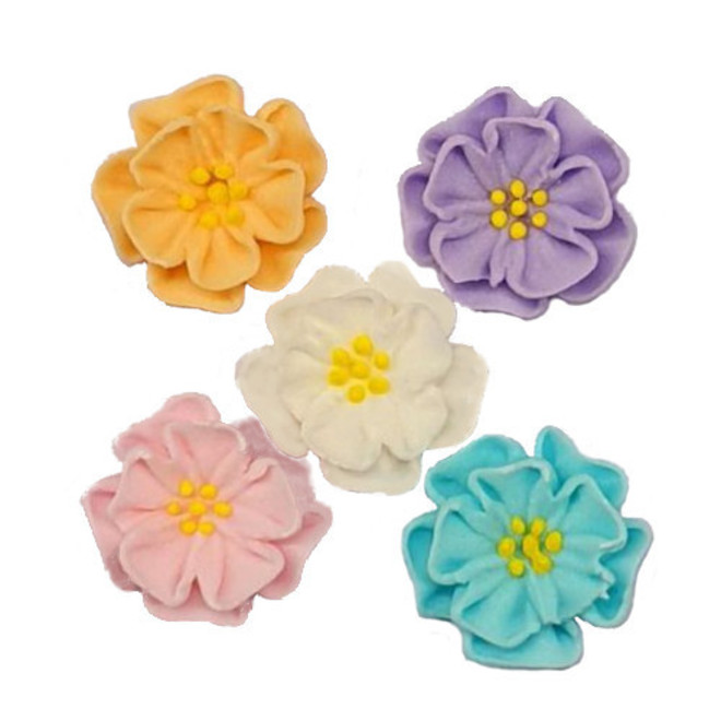 Dainty 2D Icing Flowers, Assorted, 20mm (Box of 60) image 0