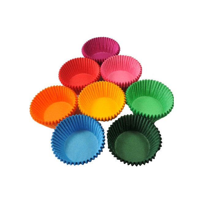 Cupcake Assorted Colours 44x30mm (500) image 0
