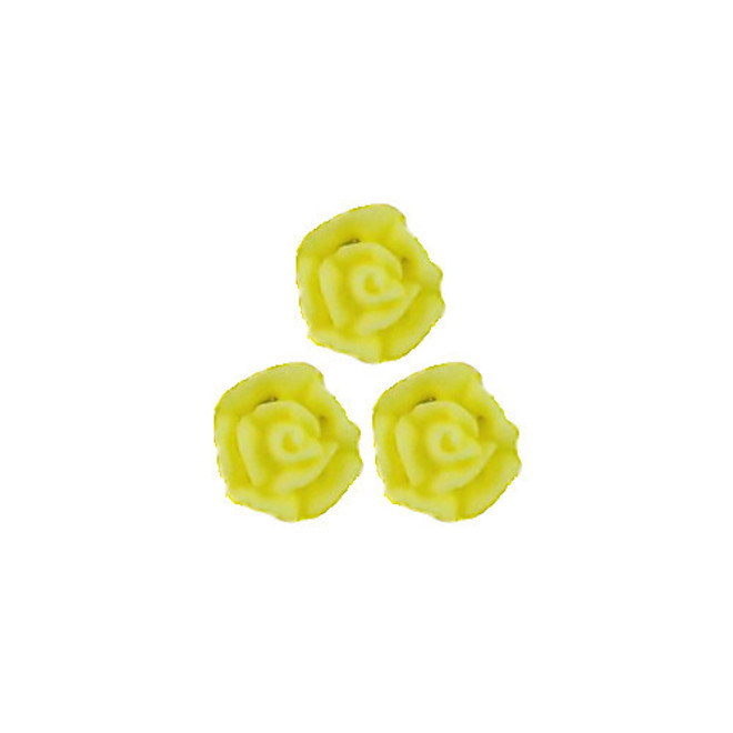 Icing Yellow Roses 10mm, packet of 24 - DELETE WHEN SOLD image 0