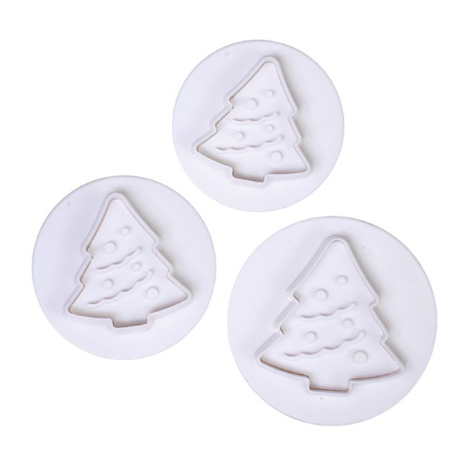 Christmas Tree Plunger Cutter Set 3 image 0
