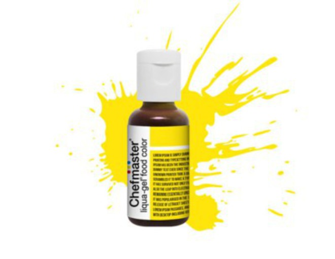 Chefmaster Liqua Gel Lemon Yellow (Box of 12) image 0