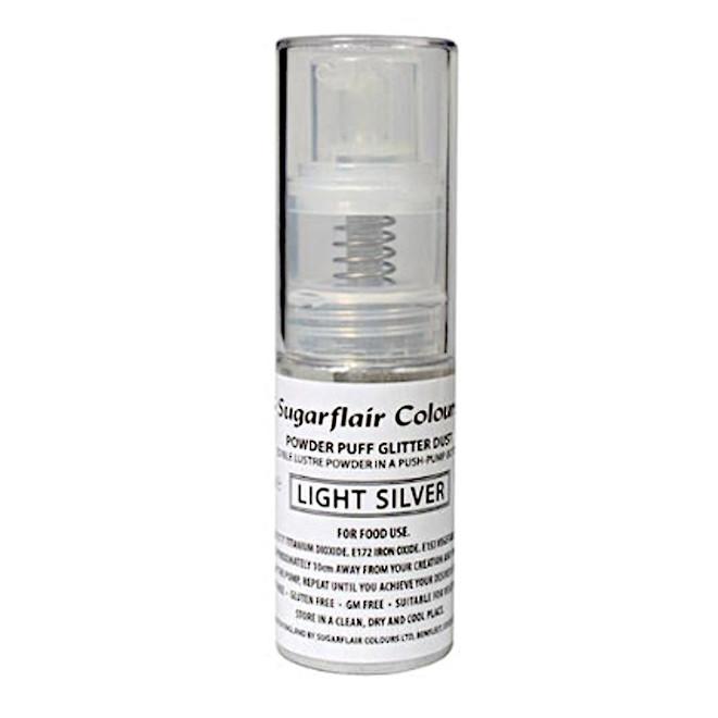 Sugarflair Edible Light Silver Lustre (Pump) 10gm image 0