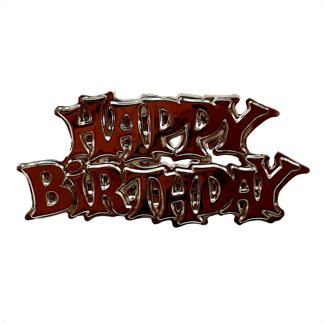 Happy Birthday Silver 65mm (6) image 0