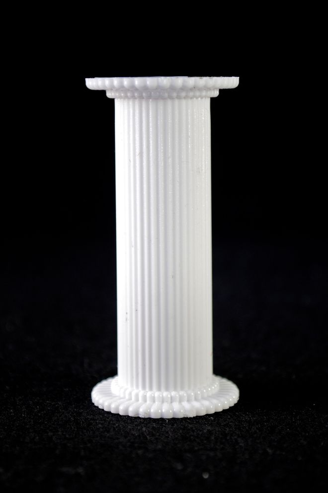 Round Fine Fluted White Pillar 75mm image 0