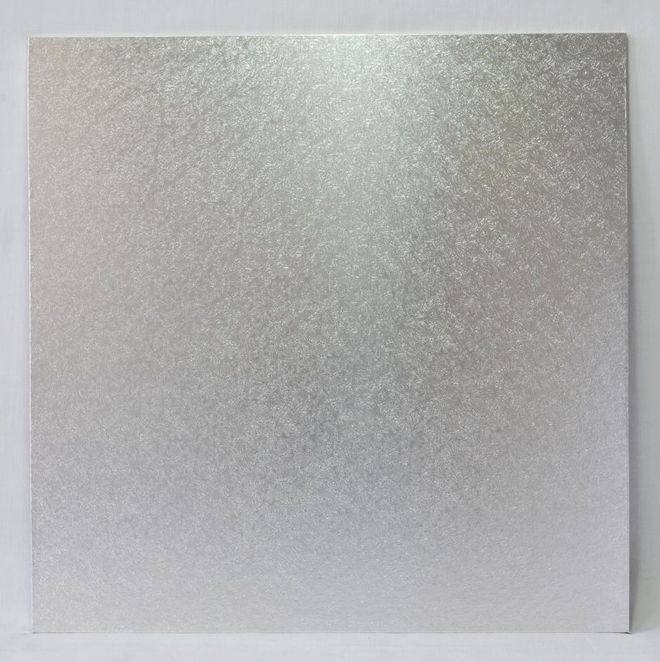 """Square 8"""" MDF Board, Silver image 0"""