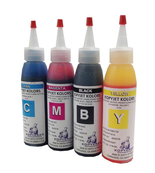Kopykake Bottle Edible Ink Refil Kit (4 colours) 4oz image 0