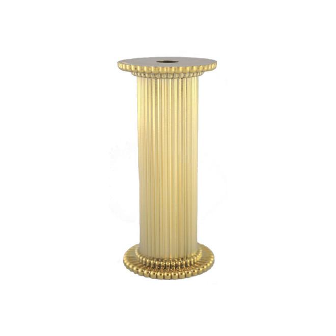 Round Fine Fluted Gold Pillar 75mm image 0