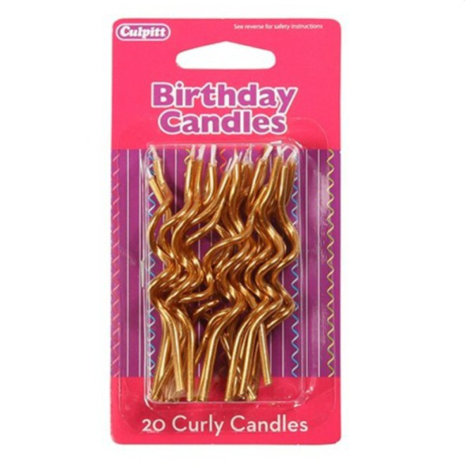 Candle Spiral Gold (20) image 0