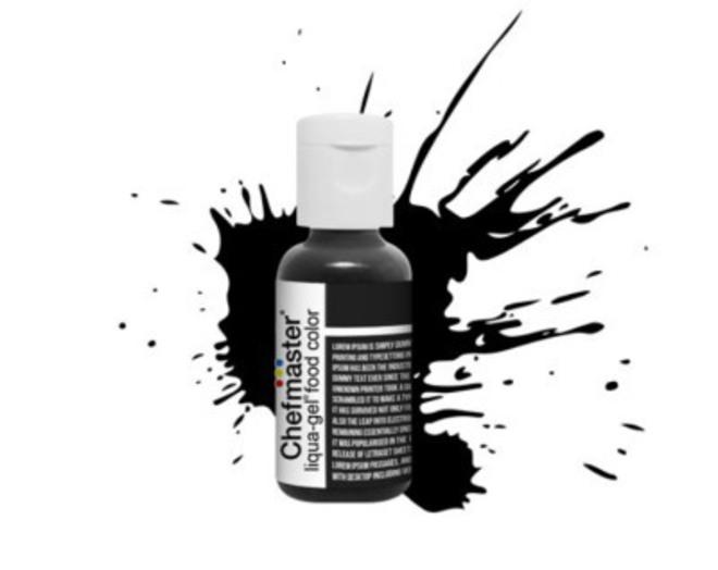 Chefmaster Liqua Gel Coal Black (Box of 12) image 0