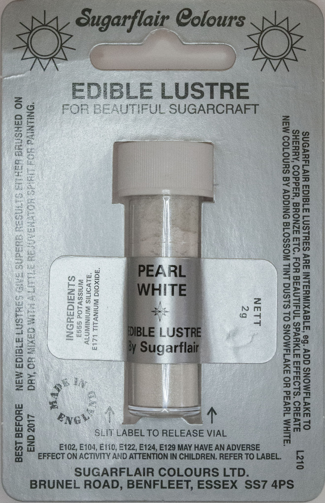 Sugarflair Edible Lustre Colour Pearl White - SOLD OUT image 0
