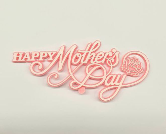 Happy Mothers Day Plaque-Plastic 125 x 55mm image 0
