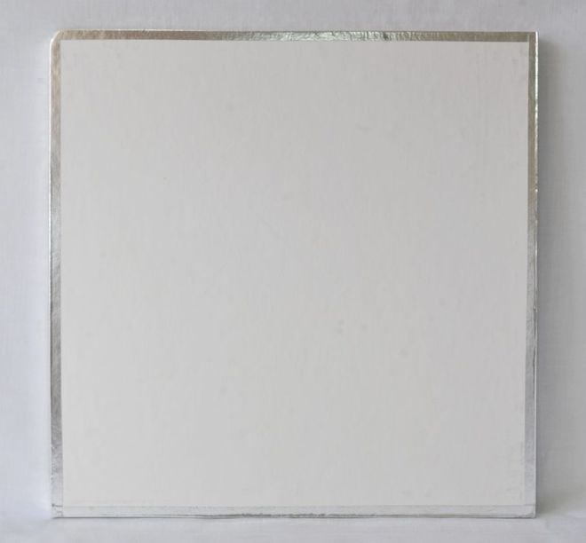 "Polystyrene Cake Board, Square, Taped Edge, 8"" (200mm) image 0"