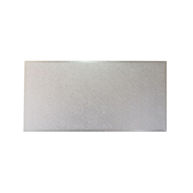 "Rectangle MDF Board, 16"" x 8"", Silver image 0"