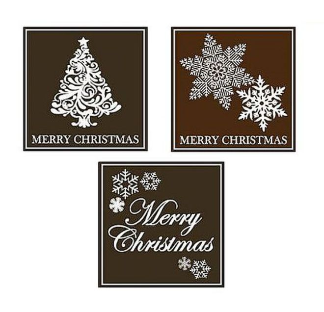 "Chocolate Dark Mint ""Christmas Assorted"" Square 50mm (30PK) image 0"