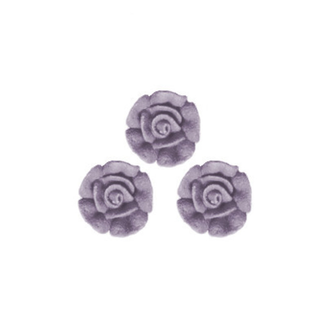 Icing Plum Frost Roses 15mm, packet of 24 image 0