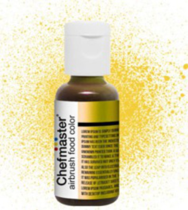 Chefmaster Airbrush Liquid Metallic Gold .67oz Bottle image 0