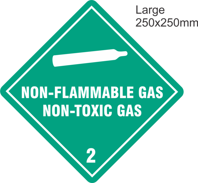 Non Flammable Compressed Gas 2.2 Large Vinyl Single Labels image 0