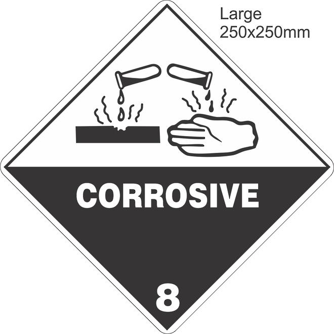 Corrosive 8 Large Vinyl Single Labels image 0