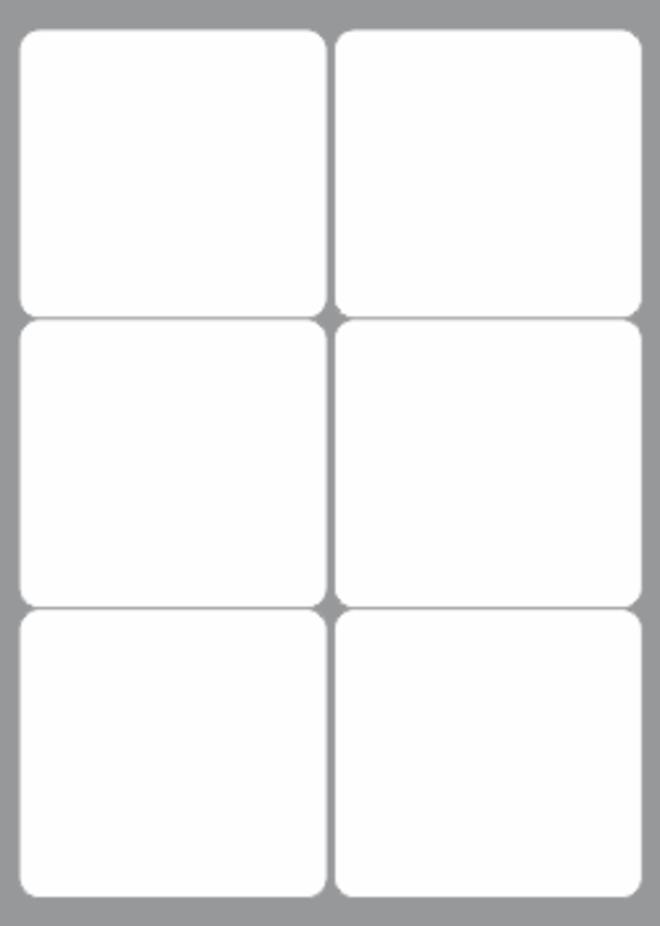 6 Labels per sheet 99x93mm x100 sheets image 0