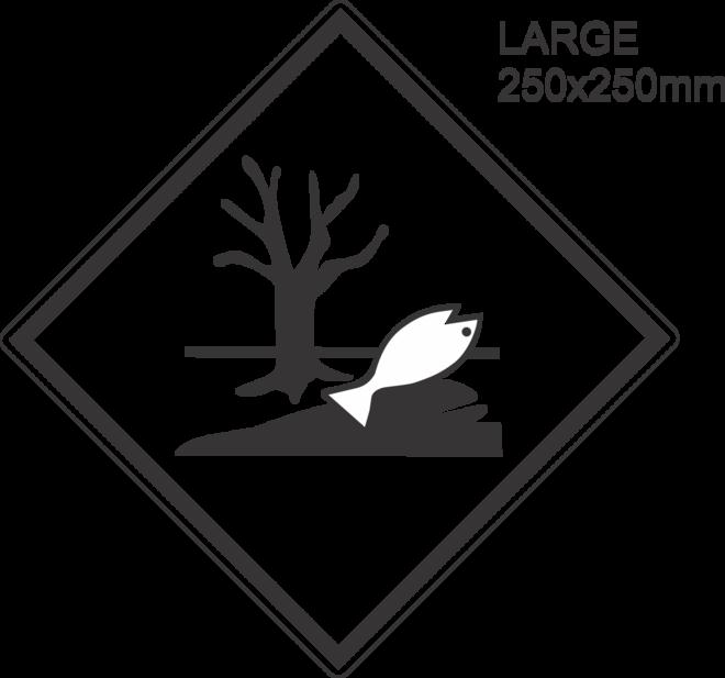 Environmentally Hazardous Large Vinyl Single Labels image 0