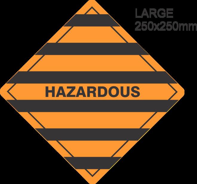 Hazardous Large Vinyl Single Labels image 0