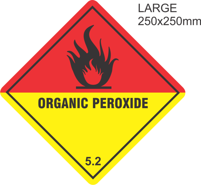 Organic Peroxide Large Vinyl Single Labels image 0