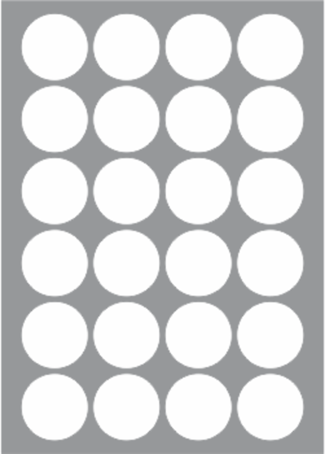 24 Labels per sheet 44mm Circle x100 sheets image 0