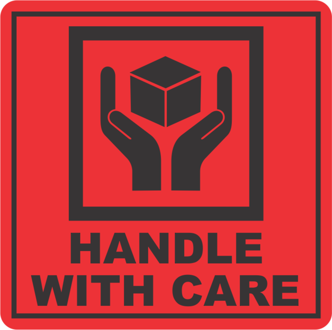 Handle With Care x500 labels image 0
