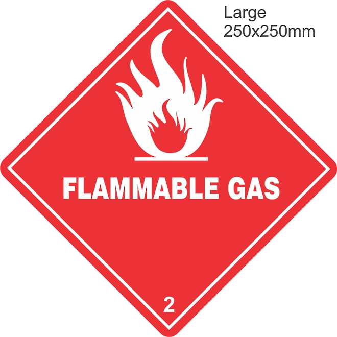 Flammable Gas 2.1 Large Vinyl Single Labels image 0