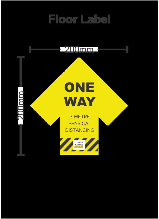 Covid19 Floor One Way Arrow Label image 0