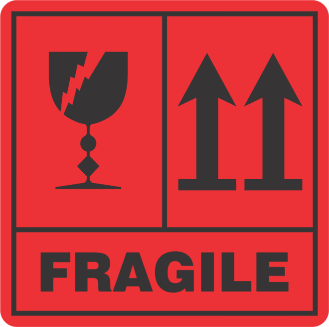 Fragile This Way Up x500 labels image 0