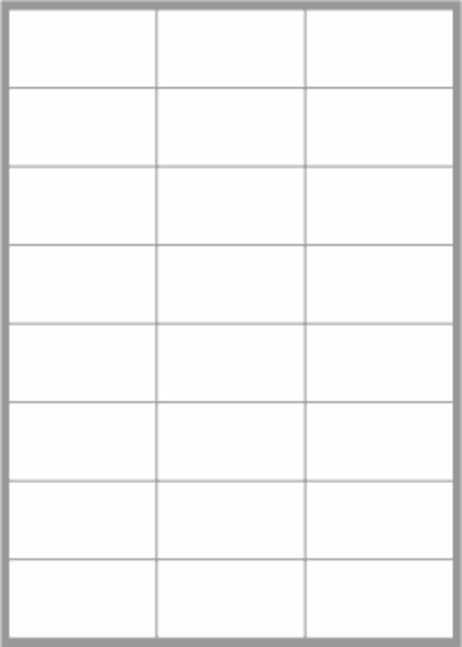 24 Labels per sheet 68x36mm x100 sheets image 0