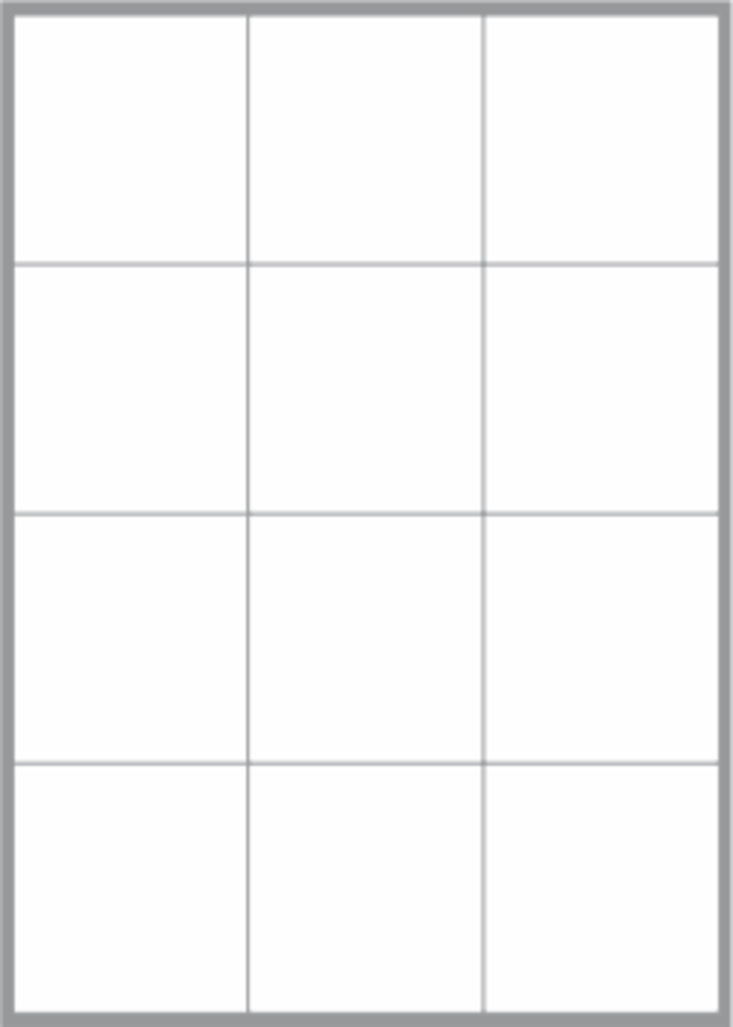 12 Labels per sheet 68x72mm x100 sheets image 0