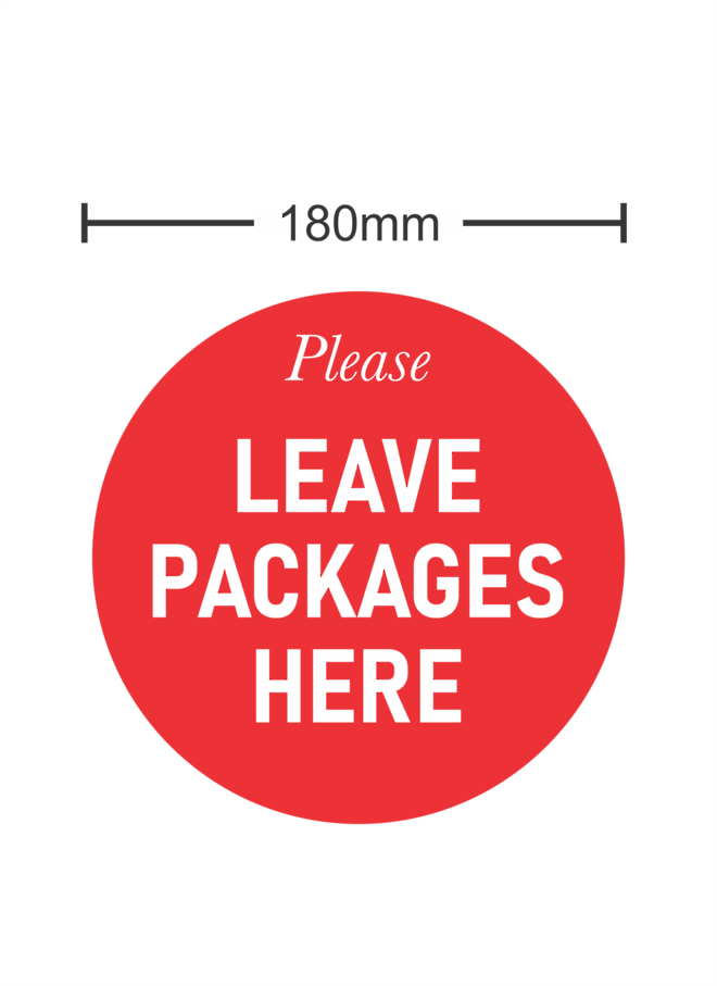 Please Leave Packages Here image 0