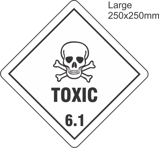 Toxic 6 Large Vinyl Single Labels image 0