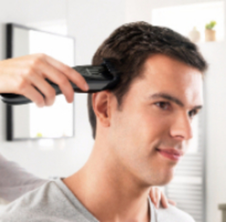 haircut using clippers