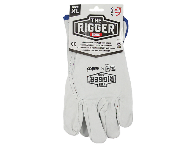 The Rigger Premium Cowhide Gloves image 2