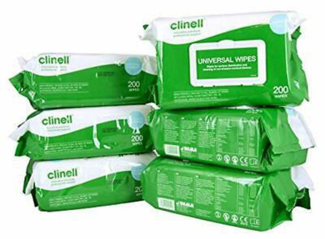 Clinell Cleaning & Disinfecting Wipes image 1