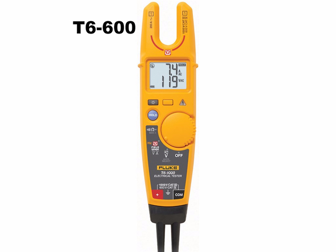 Fluke-T6-1000 & T6-600 Voltage & Continuity Testers image 0