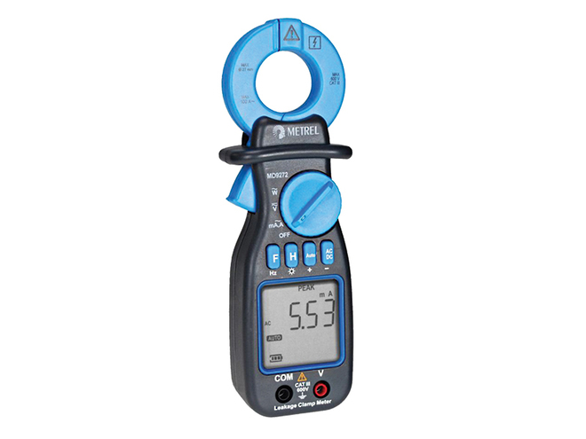 Metrel MD9272 TRMS Leakage Clamp Meter with Power Functions image 0