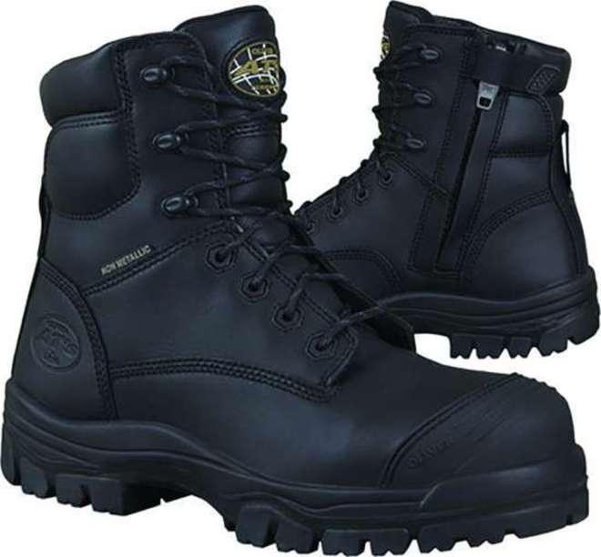 Oliver AT 45-645Z Lace Up Zip Side Safety Boot Black image 0