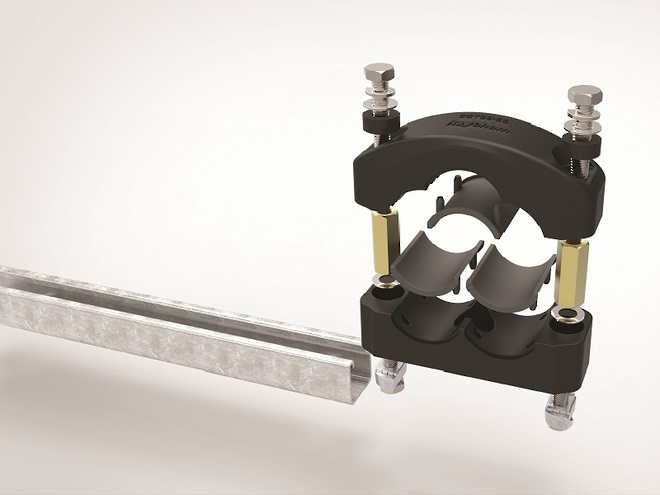 Raychem Trefoil Cable Clamps with Strut Nuts image 0