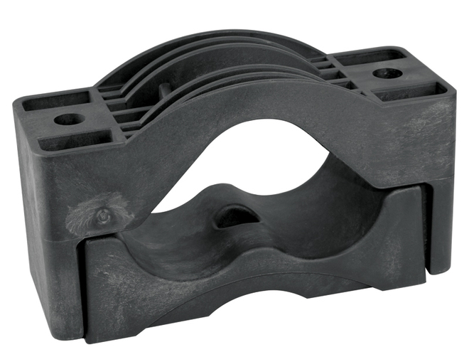 Dutch Clamp - Trefoil Cable Clamps With Centre Mounting Hole image 0