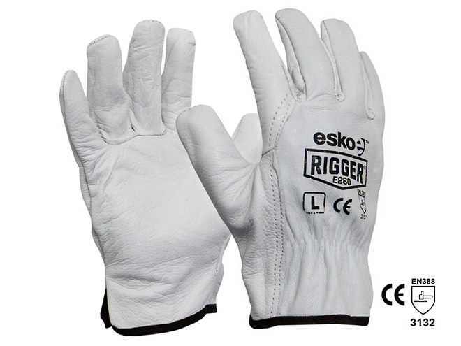 The Rigger Premium Cowhide Gloves image 0