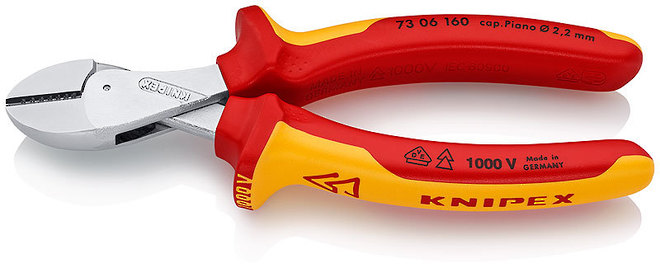 Compact High Leverage Diagonal Cutting Pliers - Knipex image 0