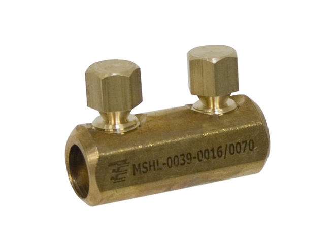 Brass Shearbolt Connector for AL or CU Conductors up to 1kV image 0