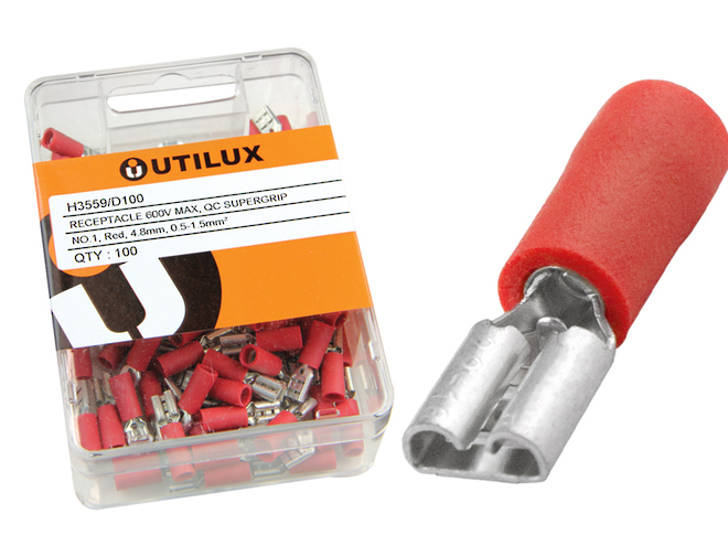 4.8mm QC Receptacles to suit 0.5mm Tabs image 1