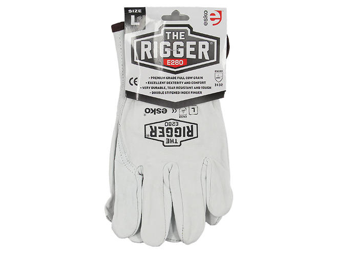 The Rigger Premium Cowhide Gloves image 1